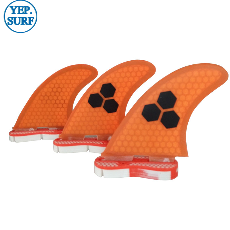 Surf Fins FCSII G5 M ზომა Surfboard Honeycomb Fins Orange FCS 2 Fin Hot Hot გაყიდვა FCS II Fin Quilhas