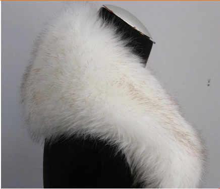 2020 Dell'annata di Inverno Delle Donne di Buona Qualità Panno Formale D'epoca di Charme collo di Pelliccia di Volpe Femminile di Lusso Sciarpe Anello di Pelliccia di Stile V622