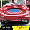 Задний бампер рассеиватель бамперы протектор для Chevrolet Cruze 2017 ABS Материал автомобильный бампер Защита противоскользящая пластина бампер кр...