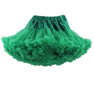Юбка-пачка для малышей шифоновая юбка-пачка для девочек, детские юбки-американки, юбка для танцев Одежда для мамы и дочки - Цвет: Зеленый