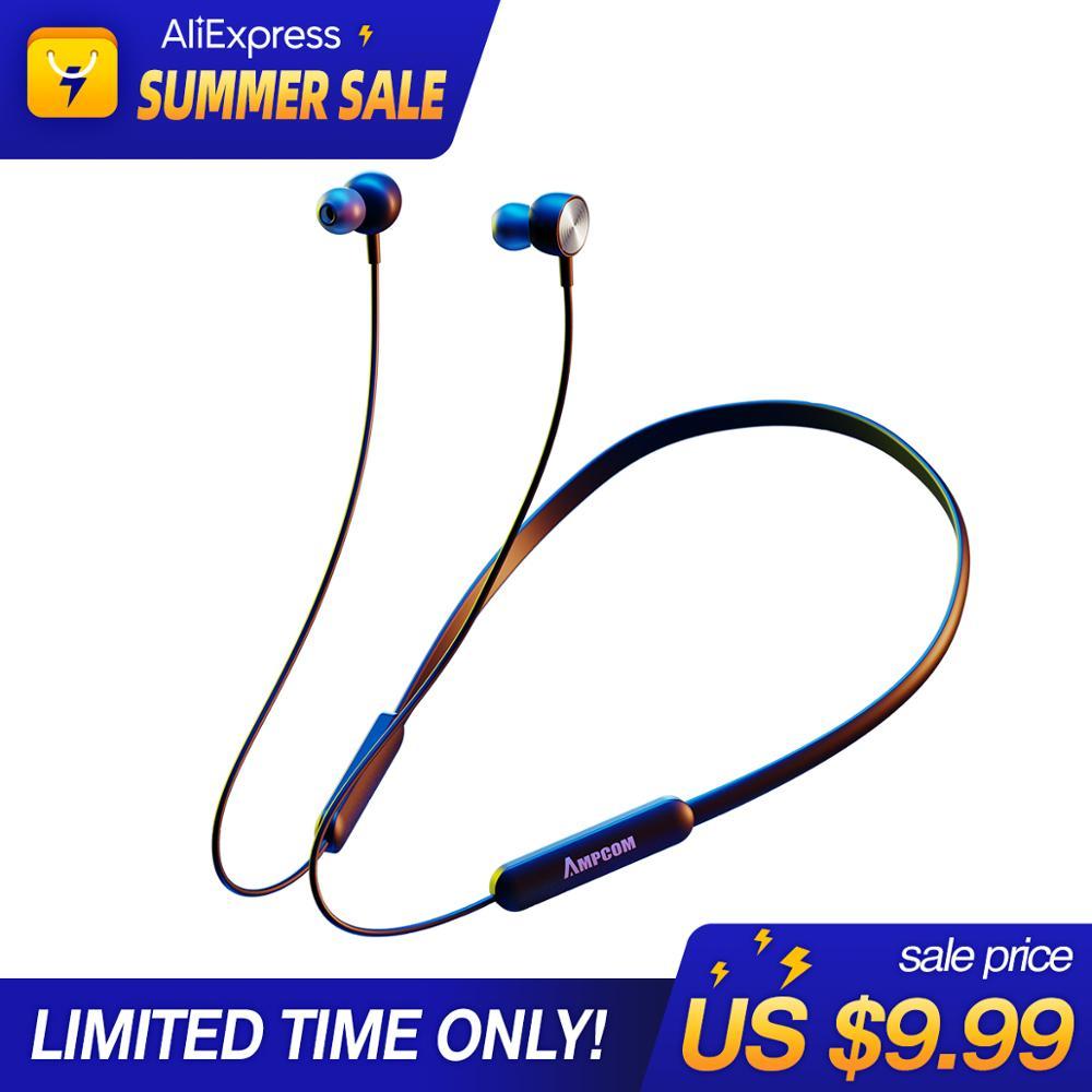 Bluetooth наушники AMPCOM, Спортивные Беспроводные наушники IPX4, водонепроницаемые наушники, гарнитура 8 часов, время работы от музыки для iPhone, xiaomi, ...