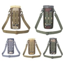 Outdoor Trave Tactical Molle Water Bottle Pouch 1050D Nylon Military Canteen Cover Holsterl Kettle Bag 0.5L-2L shoulder strap(China)
