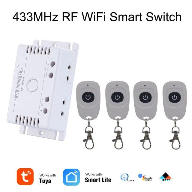 Commutateur intelligent de gazon dirrigation de TUYA avec Wi Fi, 1CH c. C 12V 24V 36V 10A 433 Mhz récepteur à distance de relais pour la commande vocale bricolage LED