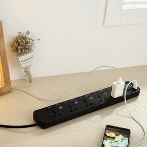 Image 5 - Protector de sobretensión de tira de energía, cable de extensión de 3m/9,8 pies, enchufe USB Universal de 5 salidas, interruptor Individual
