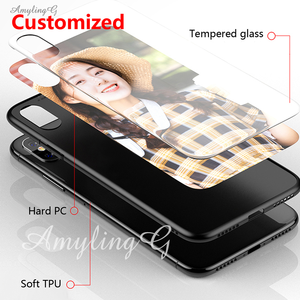 Image 4 - Customized Phone Case For Oppo Reno5 Z Glass Case Customized Picture Name OPPO A95 5G A94 5G F19Pro+ Cover Photo Cases DIY Make