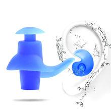 1 par anti-ruído protetores de ouvido com cancelamento de ruído tampões de ouvido à prova dwaterproof água macio silicone para dormir natação vôo