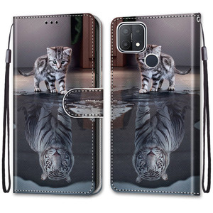 Image 3 - Etui On For OPPO A15 Case Wallet Flip Leather Case For OPPOA A 15 A15s CPH2185 CPH2179 6.52 inch Cute Animal Phone Cover