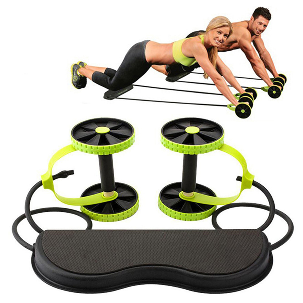 AB Wheels Roller Stretch Elastic Abdominal Resistance Pull Rope Tool Abdominal Muscle Trainer Exercise Home Fitness Equipment(China)