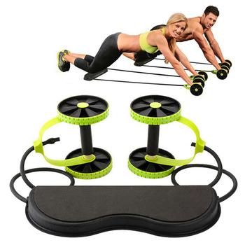 AB rolki Stretch elastyczny opór brzucha ciągnąć linę narzędzie przyrząd do treningu mięśni brzucha ćwiczenia sprzęt do ćwiczeń w domu tanie i dobre opinie Stylem klasycznym brzucha trainer Belly dq002 Dwukrotnie kółkach