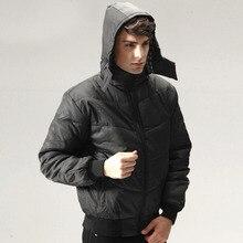 Mens Cotton Dress Slim Down Cotton-padded Jacket Winter Coat Parkas Hooded Suit