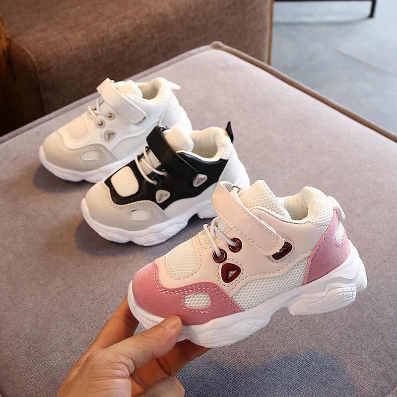 Kinder Sport Schuhe Herbst Winter Neue Mode Atmungsaktive Kinder Jungen Net Schuhe Mädchen Anti-Rutschig Turnschuhe Baby Kleinkind Schuhe