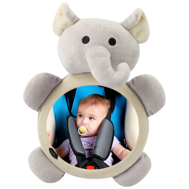 Baby Safety Seat Rear Mirror Car Interior Rearview Mirrors Infants Kids Plush Cartoon Toy #905
