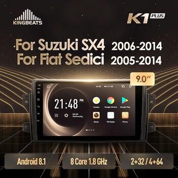 KingBeats Android 8.1 octa-core jednostka główna 4G w desce rozdzielczej Radio samochodowe multimedialny odtwarzacz wideo nawigacja GPS dla Suzuki SX4 1 2006 - 2014 dla Fiat Sedici 2005 - 2014 nie dvd 2 din podwójne Din Android samochodowe Stereo 2din DDR4 2 + 32G