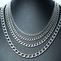Ожерелье-цепочка «Фигаро» мужское из нержавеющей стали