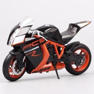 Image 5 - Welly 1:10 大規模オートバイおもちゃ KTM 1190 RC8 R スーパーバイク Diecasts おもちゃ車 KTM バイクモデルミニチュアギフト子供