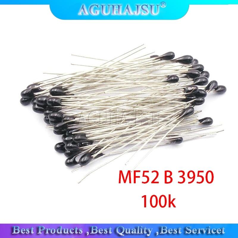 100 шт ntc-mf52at ntc термистор датчик температуры ntc термистор 100 k ntc MF52AT MF52 3950 100 k ohm ntc 3950 1% ntc-100k/3950