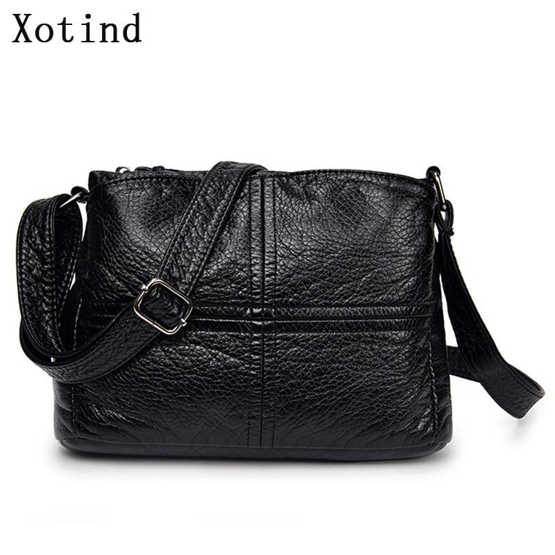 New Designer Women Shoulder Bag Splice Soft Leather Handbag Fashion Female Messenger Bags 2019 Shoulder Support Ladies Wallet
