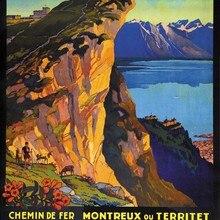 Suiza del cantón de Vaud de Rochers de Naye rocas clásico pegatinas de pared de la lona de póster Vintage de pintura Bar decoración regalo