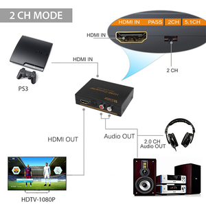 Image 4 - Wiistar hdmi to hdmi &R/L& spdif audio with 2.1/5.1ch hdmi audio extractor free shipping