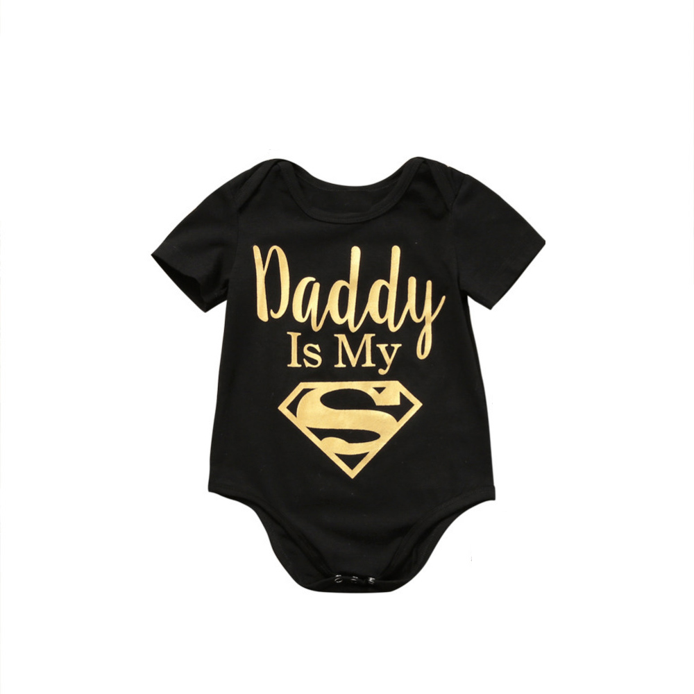 Baby Rompers Newborn Baby Boys Girls Clothes Daddy Is My Hero Funny Print Infant Baby Jumpsuit Cute Casual Baby Sleepwear
