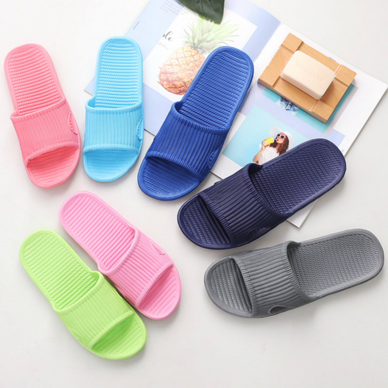 Men Indoor Home Slippers Summer Non-slip Light Hotel Shoes Couple Soft Bottom Sandals Slippers Men's Flat Shoes Flip Flops(China)