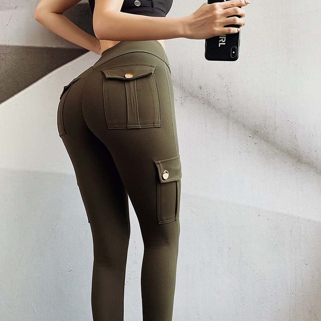 Pantaloni Femei Modă sexy Slim cu talie înaltă elastici 4
