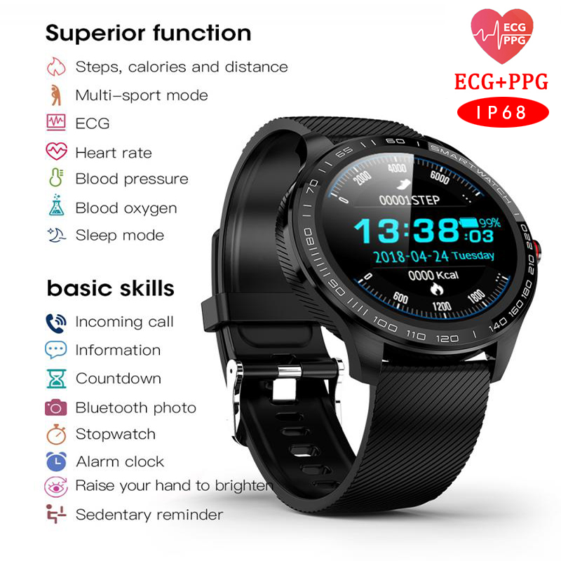 L9 Smart Watch ECG Heart Rate Calls Reminder Full Touch Smartwatch IP68 Waterproof Watch Men For Android IOS PK L7 L8 GT2