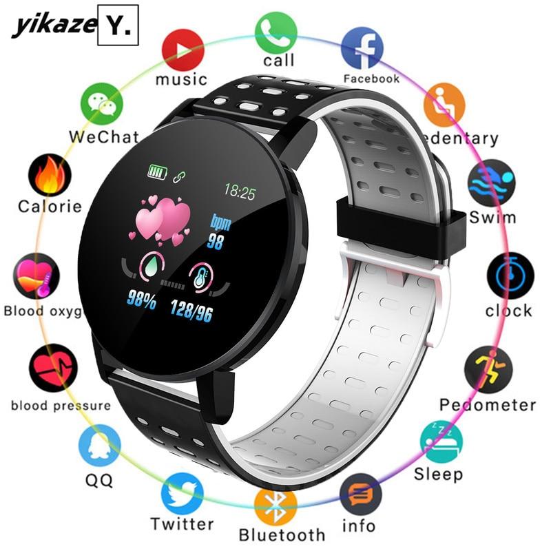2020 Bluetooth Smartwatch Men Blood Pressure Women Sport Heart Rate FitenessTracker Bracelet For Android IOS Smart Watch Round 1
