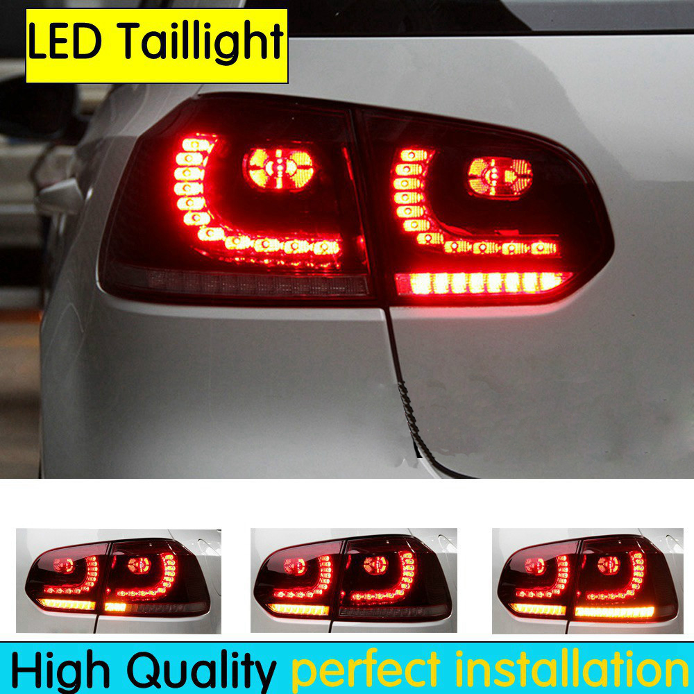 Tail lights case for VW Golf 6 Golf6 MK6 R20 Golf 6 taillight LED Tail Lamp fog lights rear trunk lamp cover