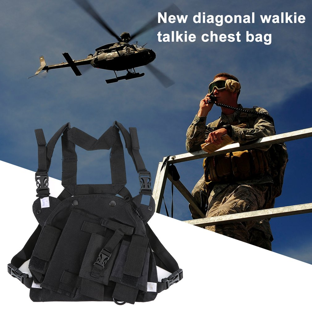 Double Radio Shoulder Holster Chest Harness Holder For Baofeng UV-5R UV-82 UV-9R PLUS Walkie Talkie Rescue Essentials