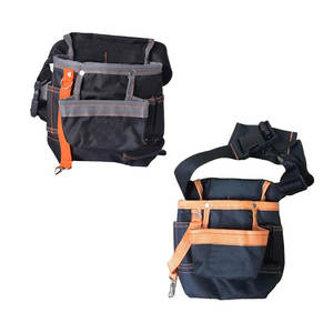 600D Oxford Waist Bag Handware Tools Belt Bag Multi-size Storage Pouch For Electrician Contractor Woodworking Tool Outdoor Work