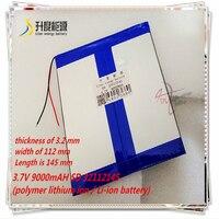 3.7V 9000mAH  SD 32112145 (polymer lithium ion / Li-ion battery) for tablet pc MOBILE POWER BANK;cell phone speaker