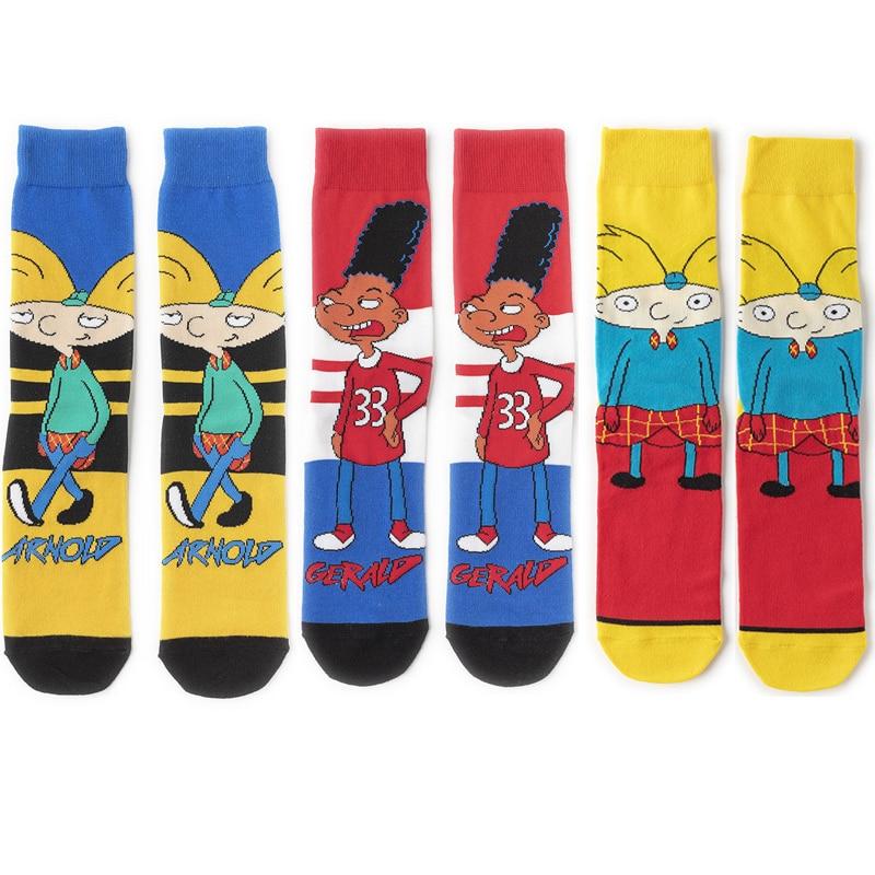 K2563 новые модные носки аниме смешные носки счастливые носки мультфильм мода скейтборд высокое качество носки
