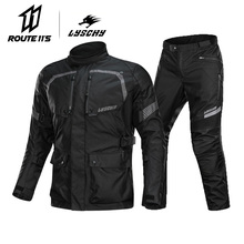 LYSCHY Motorcycle Jacket Summer Waterproof Motorbike Riding  Breathable Protective Gear Armor Moto Clothing