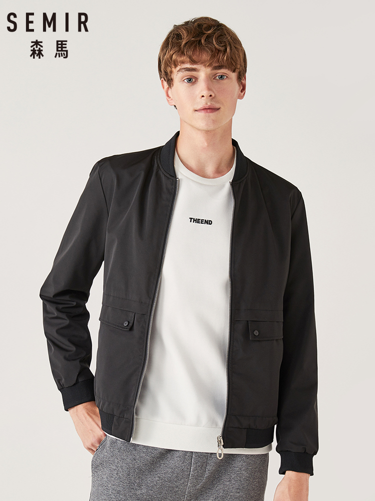 SEMIR Jacket Men Spring Clothing 2020 New Positive And Negative Wear Casual Jacket Tide Brand Shirt Men Hit Color Stand Collar
