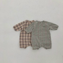 MILANCEL baby rompers classical plaid infant boys jumpsuits fashion toddler girl