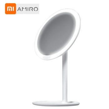 Xiaomi AMIRO HD lustro do makijażu światło dzienne lustro Vanity makijaż lustra lampa USB ładowanie światła zdrowie uroda regulowane tanie i dobre opinie Wyposażone Plastic 32*20*16cm Podświetlany XM00061 White Pink