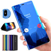 Mirror Flip Case For Huawei Honor 7A Pro 7APro AUM-L29 DUA-L22 Case Cover On Honor 7C AUM-L41 7C Pro 7CPro Coque Fundas A7 C7