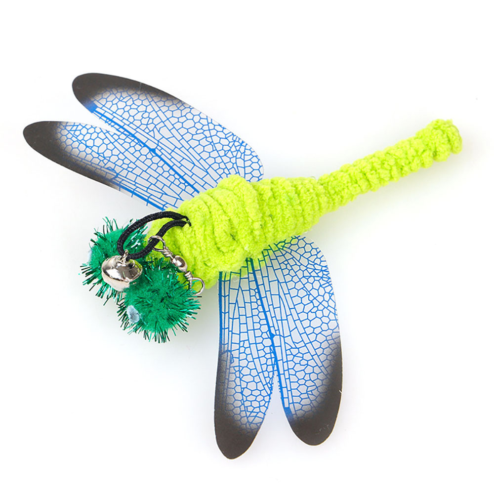 Image 2 - 20 optional cat toys,flying fish, feathered cat stick replacement head,dragonfly, fishing rod,  Cat cat interactive fun toyCat Toys   -