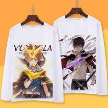 Hitman Reborn! Camiseta de manga longa do outono da primavera da sawada tsunayoshi hibari kyoya camiseta dos desenhos animados de gokudera hayato