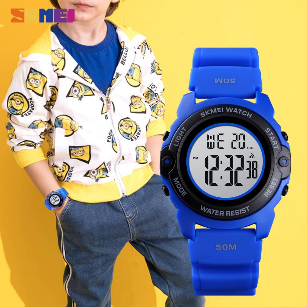 SKMEI Мода Цифровой Мальчики Часы Время Хронограф Дети Часы Водонепроницаемый Камуфляж Спорт Часы Часы +Мальчик Подросток +Наручные часы 1574