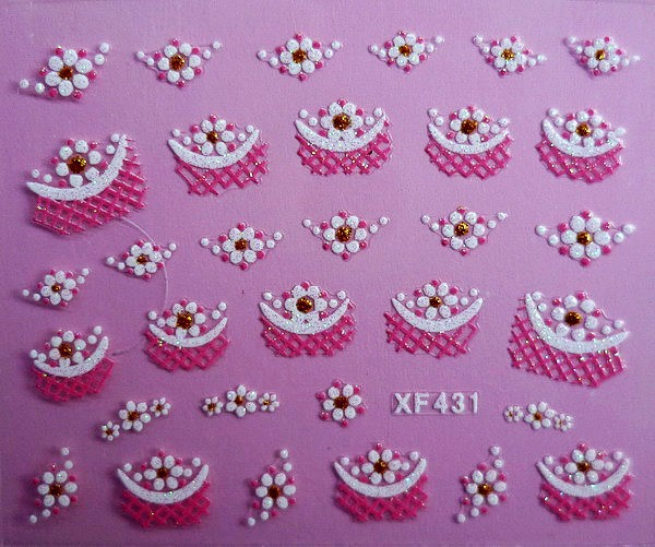 XF Nail Sticker 3D Nail Sticker Lace Nail Sticker Thousands-Selectable Recruit Agents XF431