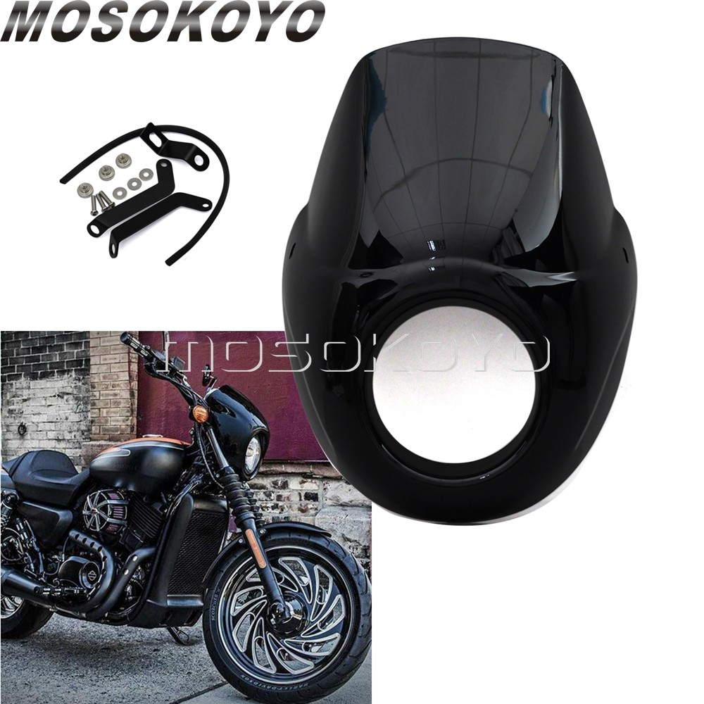 see notes Fork Mounting Hardware For Harley Davidson Street 750 XG750 2015-2018 NEW Black /& Clear Quarter Fairing Windshield Kit