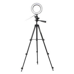 Image 4 - 16cm גובה מתכוונן צילום טלפון מחזיק Led חצובה Stand אנטי להחליק Selfie טבעת אור סט בהיר שידור חי איפור