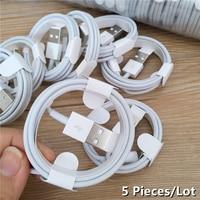 5 Teile/los 1M TPE Ladekabel Für iPhone 12 Pro iPad 6S 6 7 8 Plus 11 Pro XS Max X XR SE 5S 5C 5 Daten Sync Lade Linie Schnur