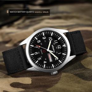 """Image 3 - חי""""ר צבאי שעון גברים זוהר בחושך שעוני יד Mens שעונים למעלה מותג יוקרה צבא ספורט תאריך עמיד למים Relogio Masculino"""