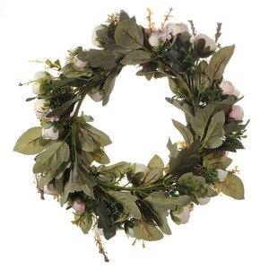 Image 3 - Adeeling guirlande de fleurs classiques artificielles, pour la maison et la chambre, en linteau décoratif de jardin