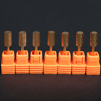 цена на 1PCS High Quality Tungsten Nail Drill Burr Bits Cone Milling Cutter For Manicure Machine Electric Drill Bit Machine Nail Tool