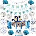 Флажки-гирлянды для подарка на 1-й День рождения мальчика или ребенка