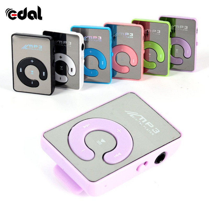 Support 8GB SD TF Card 6 Colors Mini Mirror Clip USB Digital Mp3 Cheap Music Player